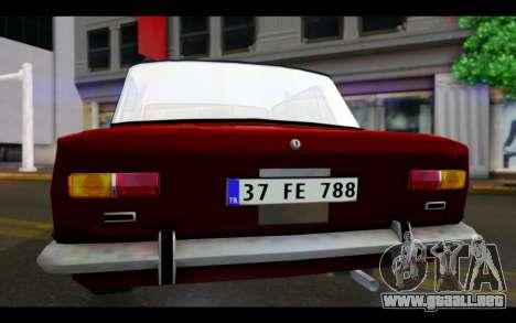 Fiat 124 para visión interna GTA San Andreas