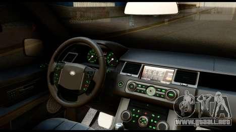 Range Rover Sport 2012 para visión interna GTA San Andreas