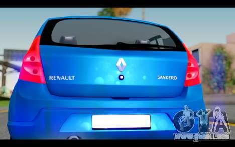 Renault Sandero para visión interna GTA San Andreas