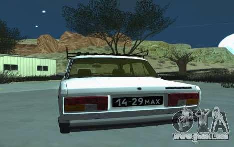 VAZ 2105 para GTA San Andreas para la visión correcta GTA San Andreas