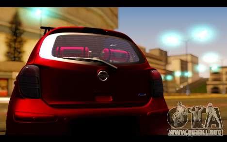 Nissan March 2011 Hellaflush para visión interna GTA San Andreas