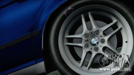 BMW M5 E34 US-spec 1994 (Full Tunable) para GTA San Andreas vista posterior izquierda