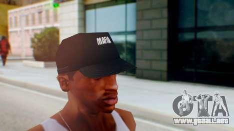 Mafia Cap Black White para GTA San Andreas segunda pantalla