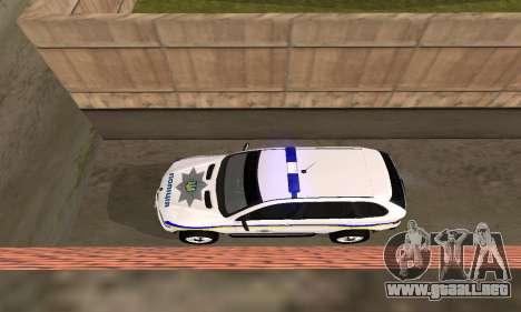 BMW X5 Ukranian Police para visión interna GTA San Andreas