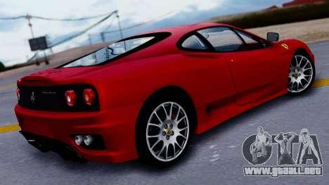 Ferrari 360 Challenge Stradale para GTA San Andreas left