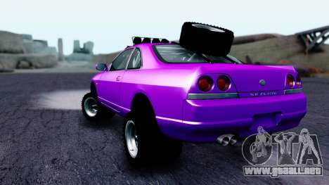 Nissan Skyline R33 Rusty Rebel para GTA San Andreas left