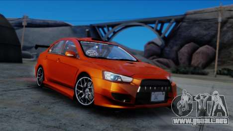 Mitsubishi Lancer Evolution X Tunable New PJ para la visión correcta GTA San Andreas