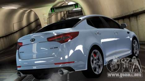 Kia Optima para GTA 4 Vista posterior izquierda