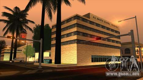 LSPD, All Saints Hospital & Skyscrapers 2016 para GTA San Andreas segunda pantalla