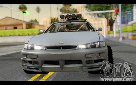 Nissan Silvia S14 Rusty Rebel para GTA San Andreas vista hacia atrás