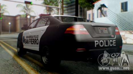 GTA 5 Police SF para GTA San Andreas left