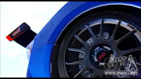 Subaru BRZ STi Concept 2016 para la visión correcta GTA San Andreas