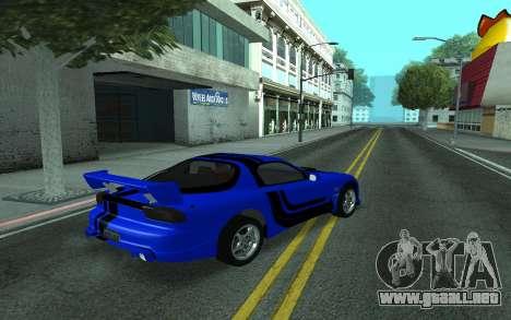Mazda RX-7 Tunable para la vista superior GTA San Andreas