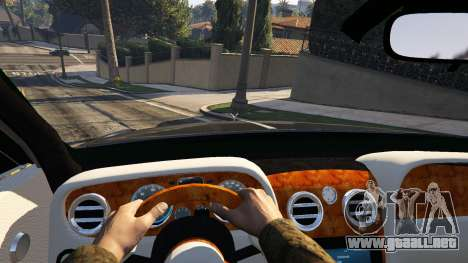 GTA 5 Rolls Royce Ghost 2014 vista lateral trasera derecha