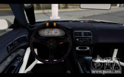 Nissan Silvia S14 Rusty Rebel para GTA San Andreas vista posterior izquierda