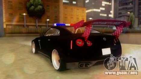 Nissan GT-R Police Rocket Bunny para GTA San Andreas left