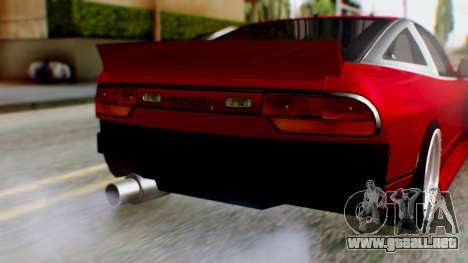 Nissan 240SX Drift v2 para GTA San Andreas vista hacia atrás