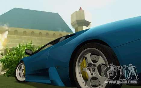 Lamborghini Murcielago 2005 para GTA San Andreas vista posterior izquierda