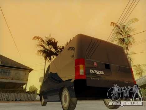 Fiat Ducato SOLLERS 2010 para visión interna GTA San Andreas