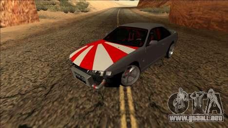 Nissan Silvia S14 Drift JDM para GTA San Andreas vista hacia atrás