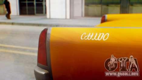 GTA 5 Vapid Chino Tunable para GTA San Andreas vista hacia atrás