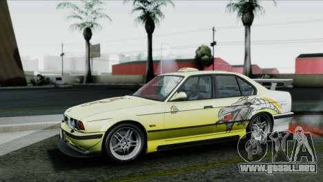 BMW M5 E34 US-spec 1994 (Full Tunable) para vista inferior GTA San Andreas
