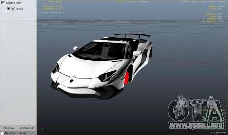 GTA 5 2016 Lamborghini Aventador LP750-4 Superveloce vista lateral derecha