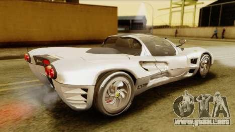 Ferrari P7 Spyder para GTA San Andreas vista posterior izquierda