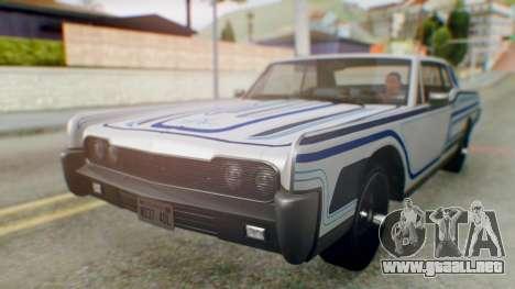 GTA 5 Vapid Chino Tunable para vista inferior GTA San Andreas
