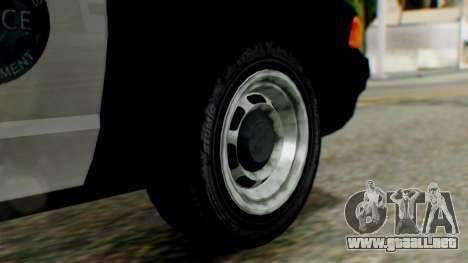 GTA 5 Police LV para GTA San Andreas vista posterior izquierda