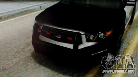 GTA 5 Police SF para la visión correcta GTA San Andreas