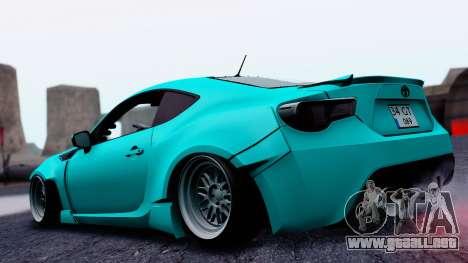 Toyota GT86 Rocket Bunny para GTA San Andreas left