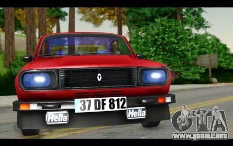 Renault 12 Toros para GTA San Andreas vista posterior izquierda