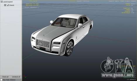 GTA 5 Rolls Royce Ghost 2014 vista lateral derecha