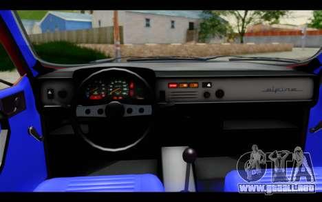 Renault 12 Toros para visión interna GTA San Andreas