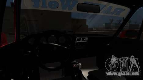 Porsche 993 GT2 RWB Rough Rhythm para GTA San Andreas vista posterior izquierda
