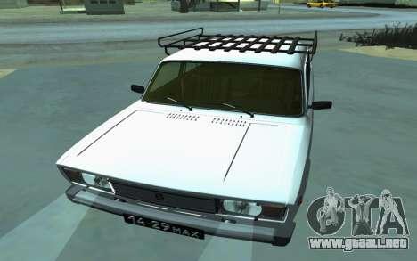 VAZ 2105 para GTA San Andreas para GTA San Andreas vista hacia atrás