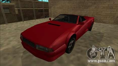 Cheetah Cabrio para la visión correcta GTA San Andreas