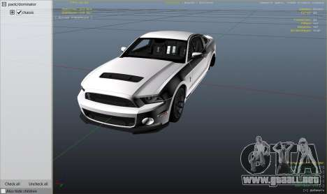 2013 Ford Mustang Shelby GT500 para GTA 5