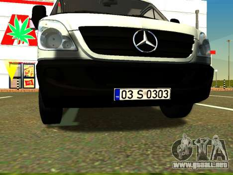Mercedes-Benz Sprinter Long para visión interna GTA San Andreas