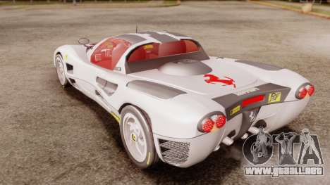 Ferrari P7 Horse para GTA San Andreas vista posterior izquierda