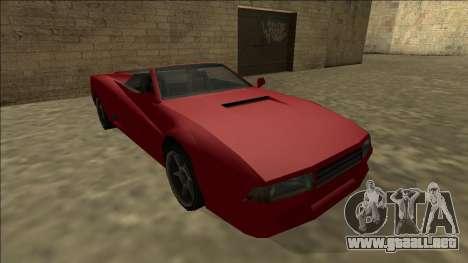 Cheetah Cabrio para visión interna GTA San Andreas