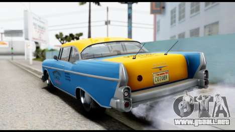 GTA 5 Declasse Cabbie v2 para GTA San Andreas left