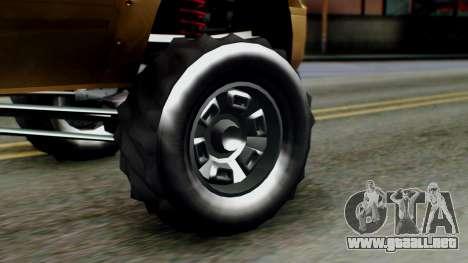 GTA 5 Vapid Sandking XL para GTA San Andreas vista posterior izquierda