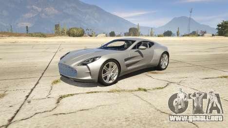 2012 Aston Martin One-77 v1.0 para GTA 5