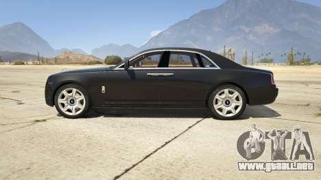 GTA 5 Rolls Royce Ghost 2014 vista lateral izquierda