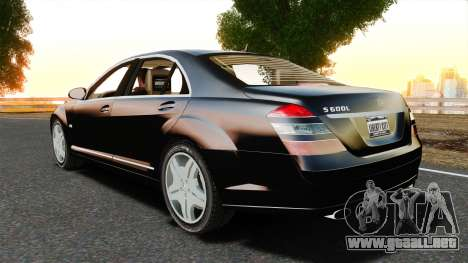 Mercedes-Benz S600L 2008 para GTA 4 left