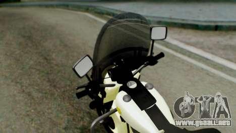 New Police Bike para GTA San Andreas vista hacia atrás
