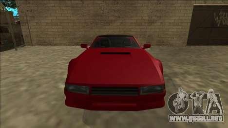 Cheetah Cabrio para GTA San Andreas vista hacia atrás