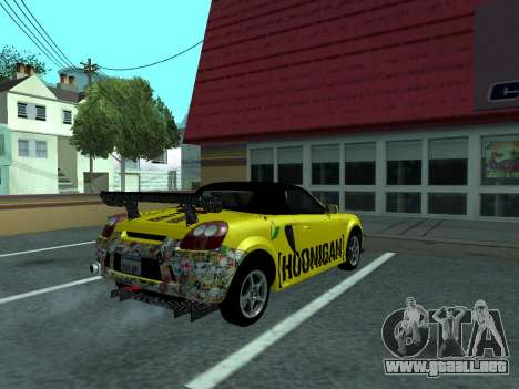 Toyota MR-S Tunable para visión interna GTA San Andreas
